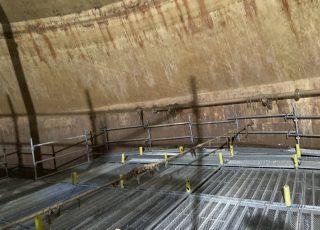 福岡市東区 水処理センター 貯水タンク内 足場工事⑥