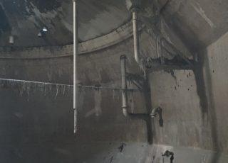 福岡市東区 水処理センター 貯水タンク内 足場工事②