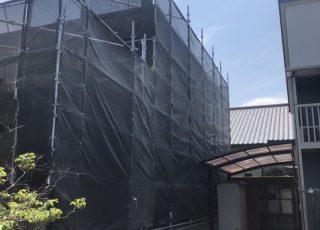 福岡県糸島市 一般住宅 足場工事①