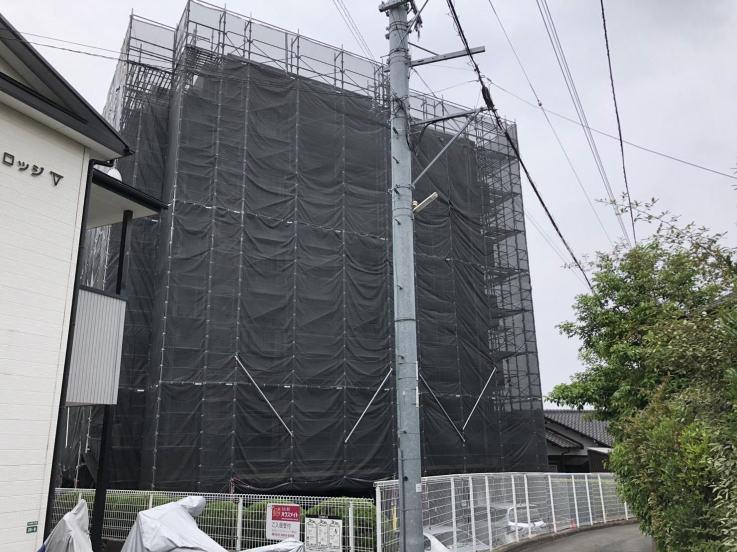 福岡県福岡市東区 大規模改修工事 足場①