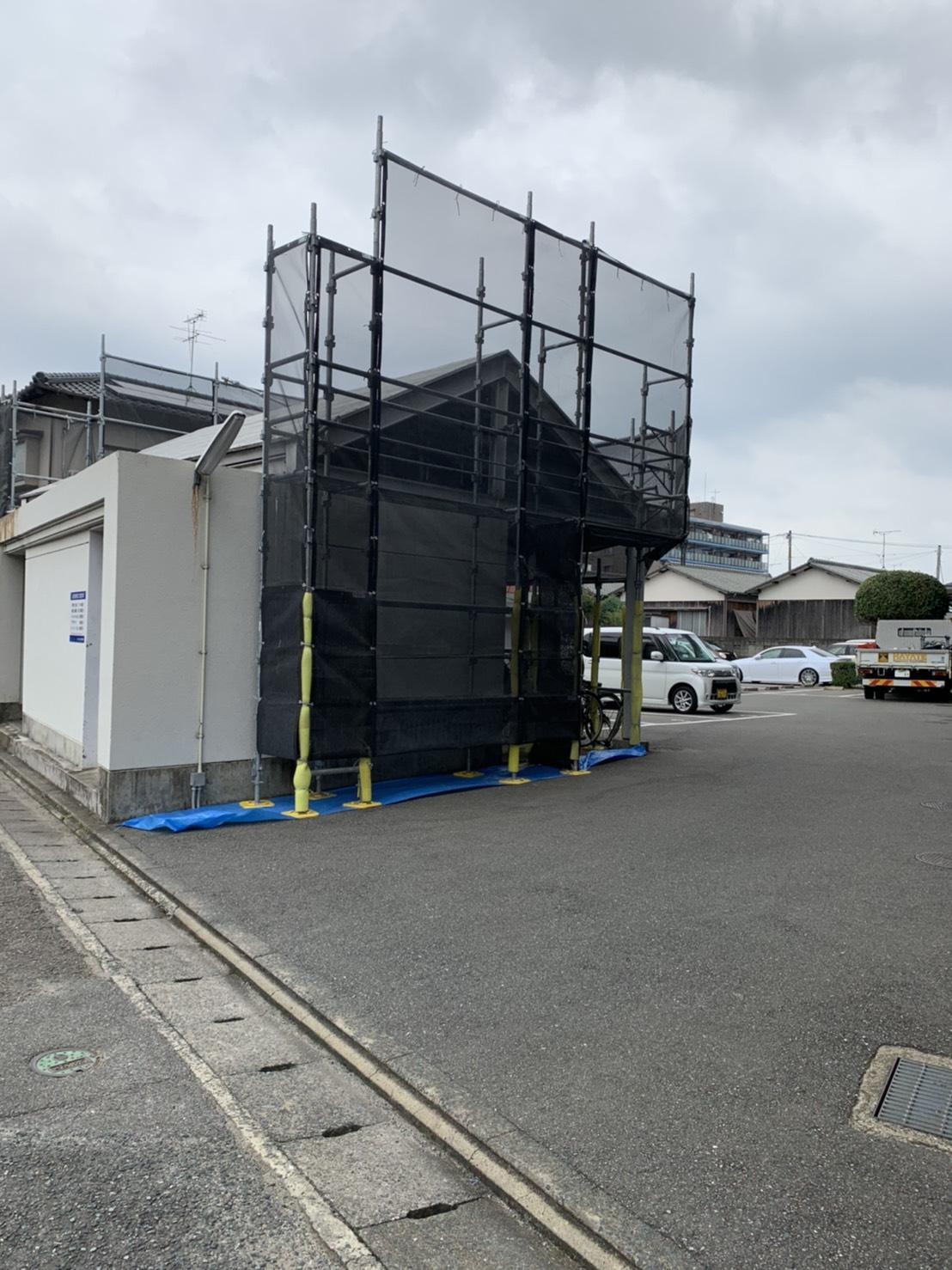 福岡県那珂川市 マンション 大規模改修工事 足場③