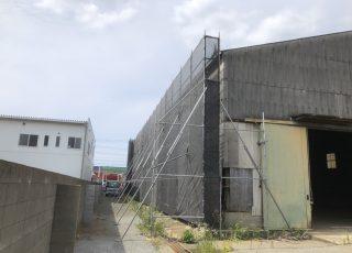 福岡県粕屋郡篠栗町 空き倉庫 部分改修工事 足場