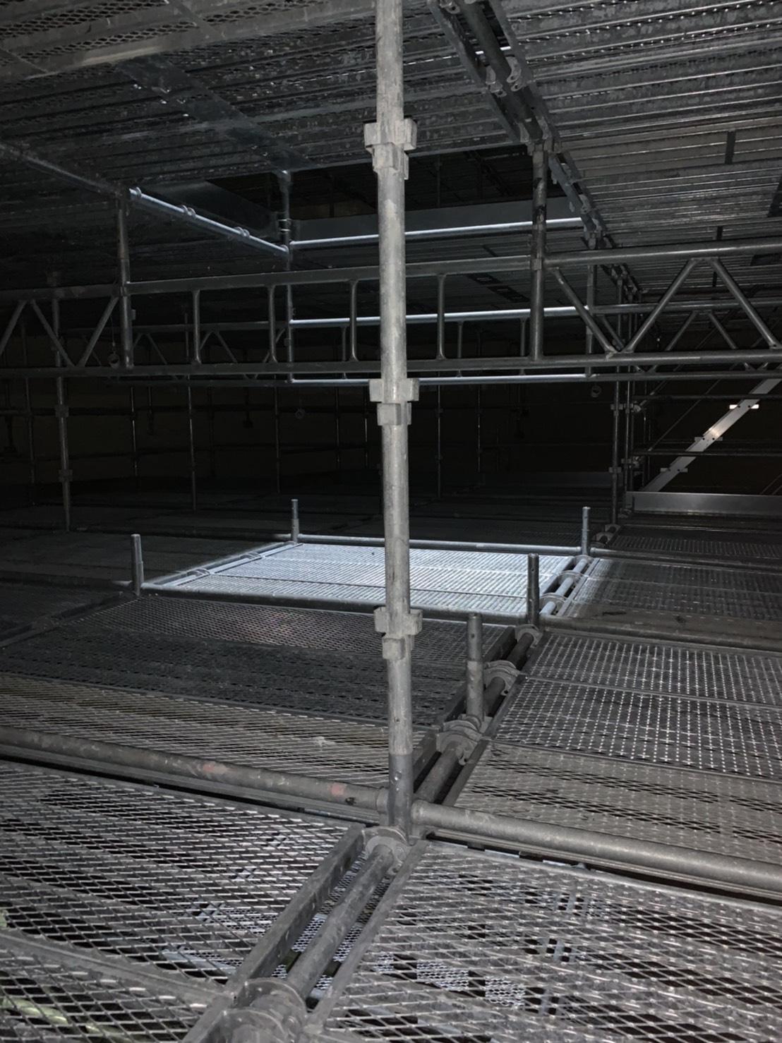 福岡県福岡市西区 西部水処理センター 層内足場工事②