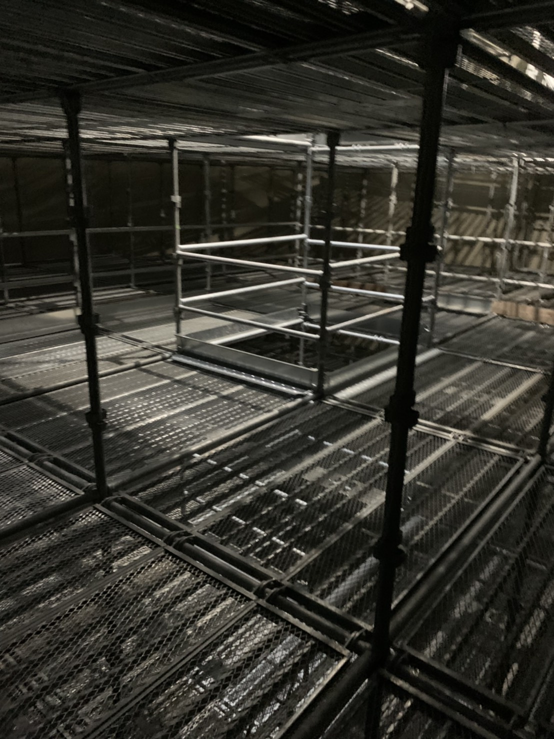 福岡県福岡市西区 西部水処理センター 層内足場工事③