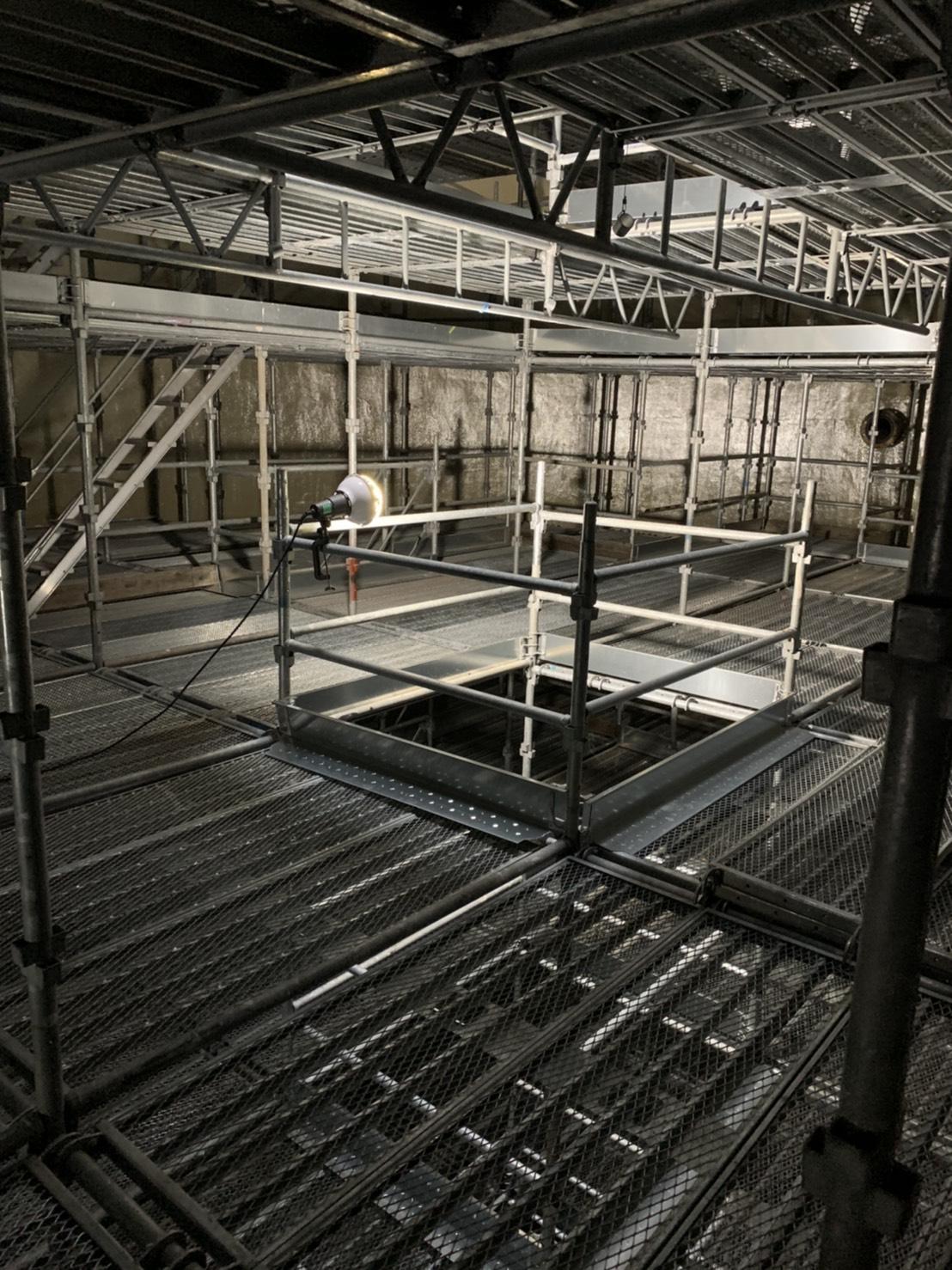 福岡県福岡市西区 西部水処理センター 層内足場工事④