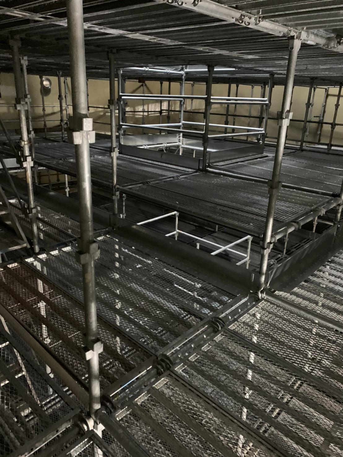福岡県福岡市西区 西部水処理センター 層内足場工事⑤