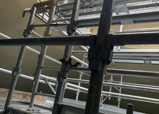 福岡県福岡市西区 西部水処理センター 層内足場工事⑥