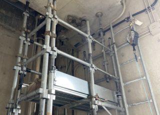 福岡県福岡市西区 水処理センター内 電気設備配管工事用 部分足場①