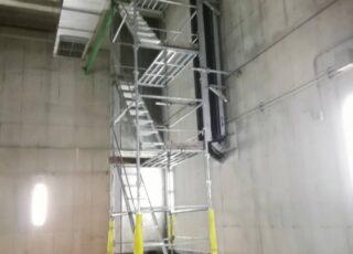 某 浄水場内部分足場工事④