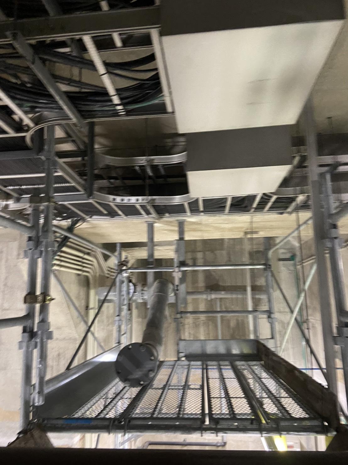 西区 西部水処理センター 内部足場工事②