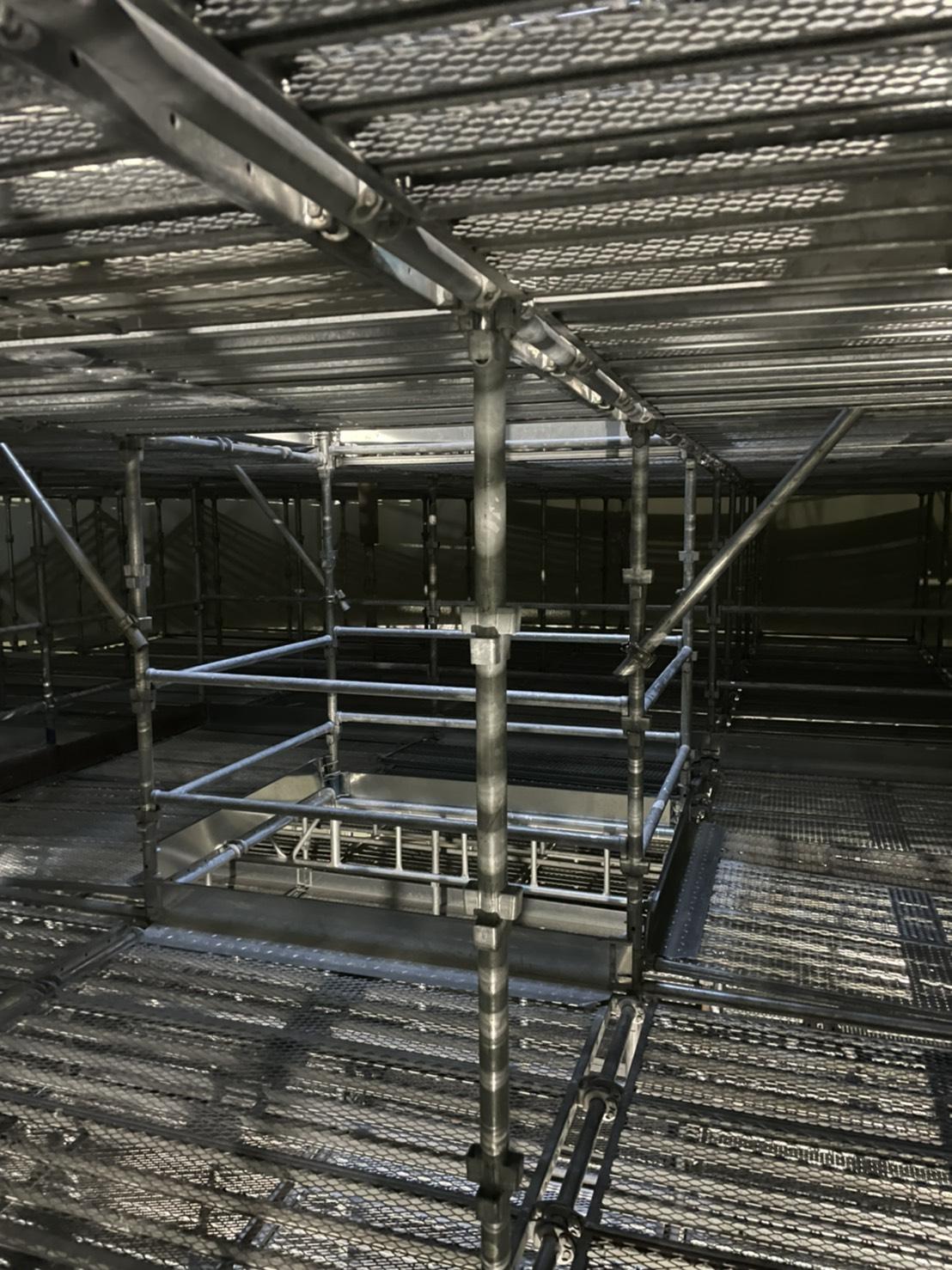 福岡県福岡市東区 某水処理センター 消化槽内 内部足場工事②