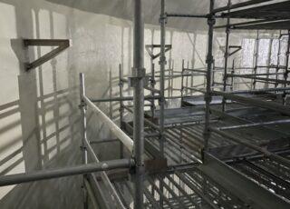 福岡県福岡市東区 某水処理センター 消化槽内 内部足場工事①