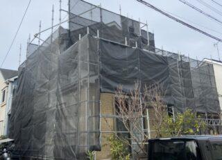 福岡県福岡市南区 住宅足場工事①