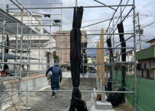 福岡県福岡市東区 新築足場工事②
