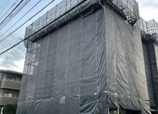 福岡県福岡市早良区 大規模修繕工事足場②
