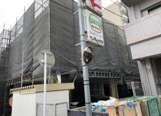 福岡県福岡市博多区 改修工事 足場①