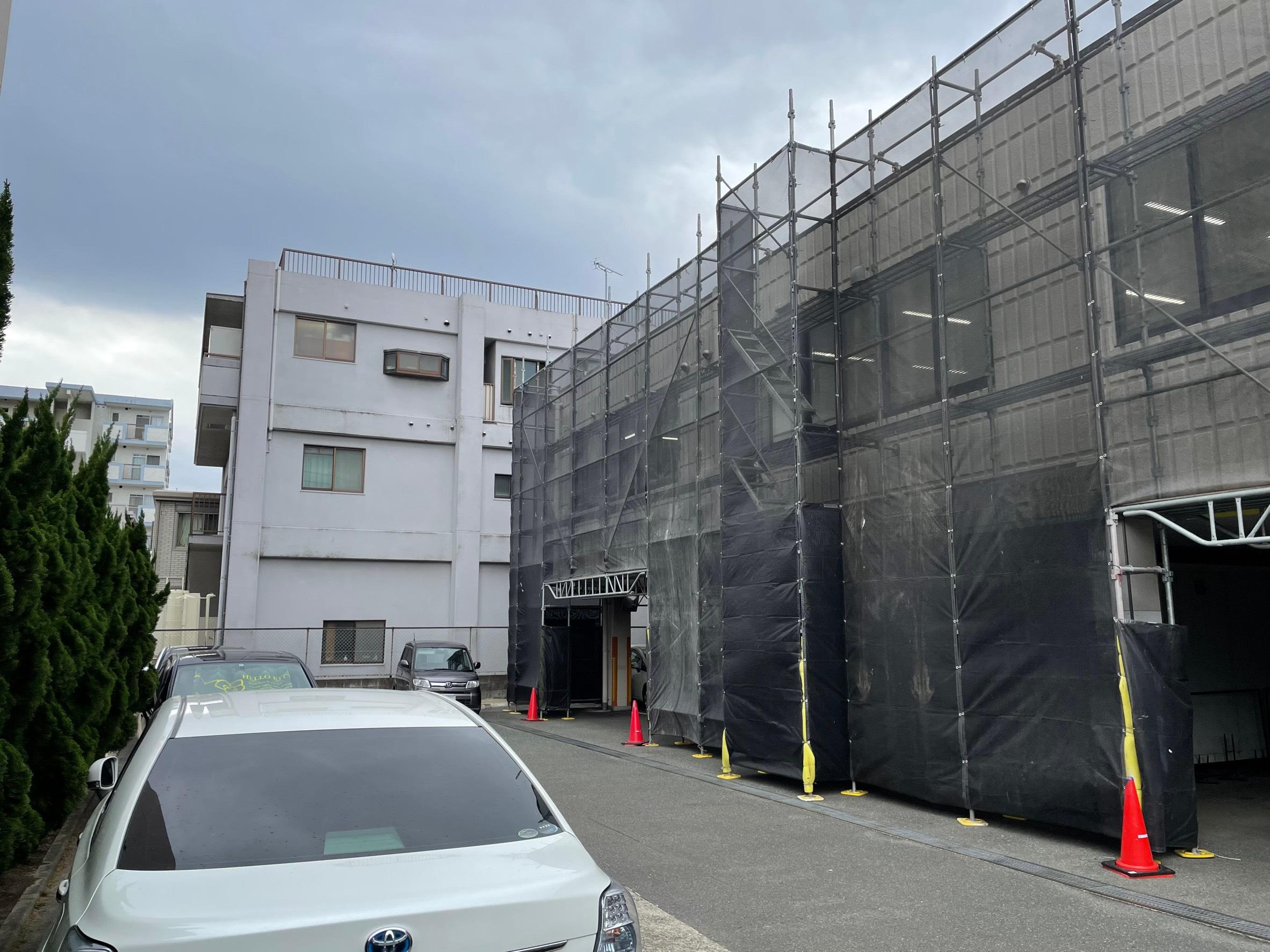 福岡県福岡市博多区 改修工事 足場②