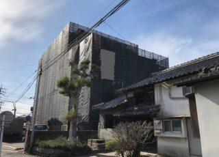 福岡県大野城市 6階建てマンション 改修工事足場②