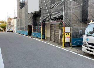 福岡県福岡市 某病院 改修工事足場①