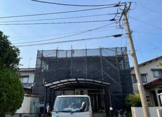 福岡県糸島市住宅足場工事