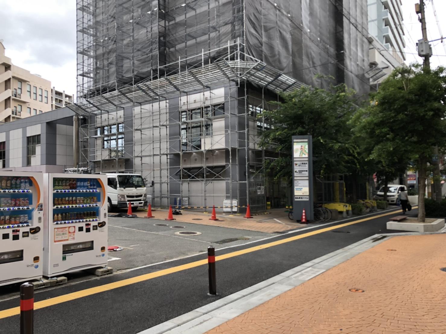 福岡県福岡市早良区西新 大規模改修工事 足場②