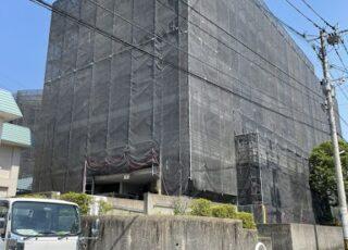 福岡県福岡市博多区 大規模修繕工事足場④