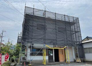 福岡県糸島市 住宅足場工事①