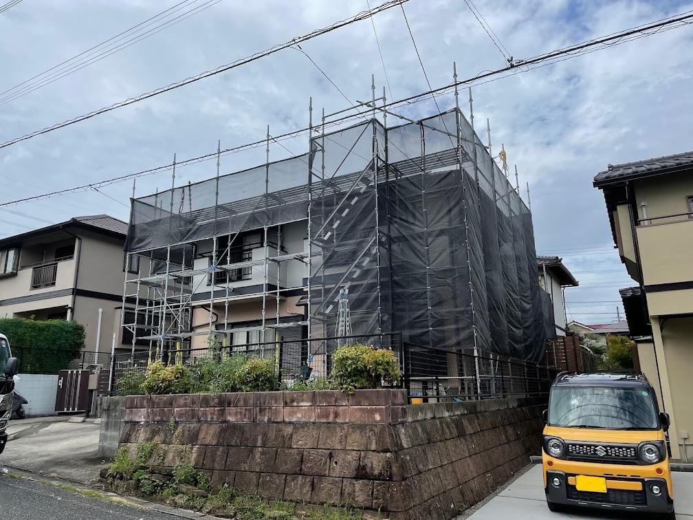 福岡県筑紫野市 一般住宅足場工事